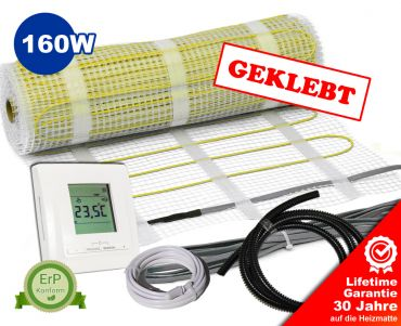 Premium Heizmatten Set NZ-160 plus - geklebt